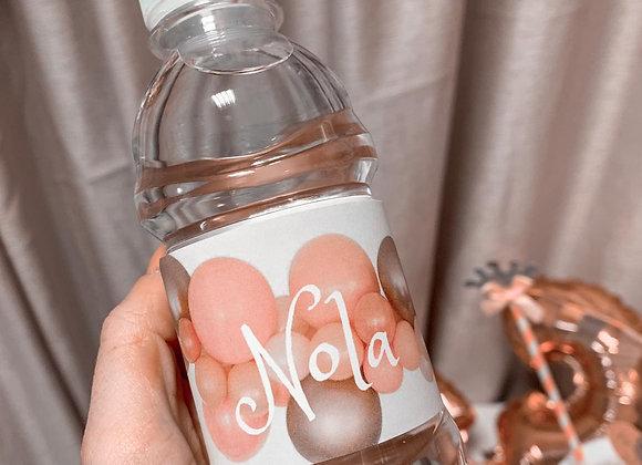 Etikete za bočice vode
