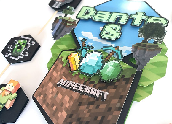 Topper Minecraft inspiracija s mini topperima
