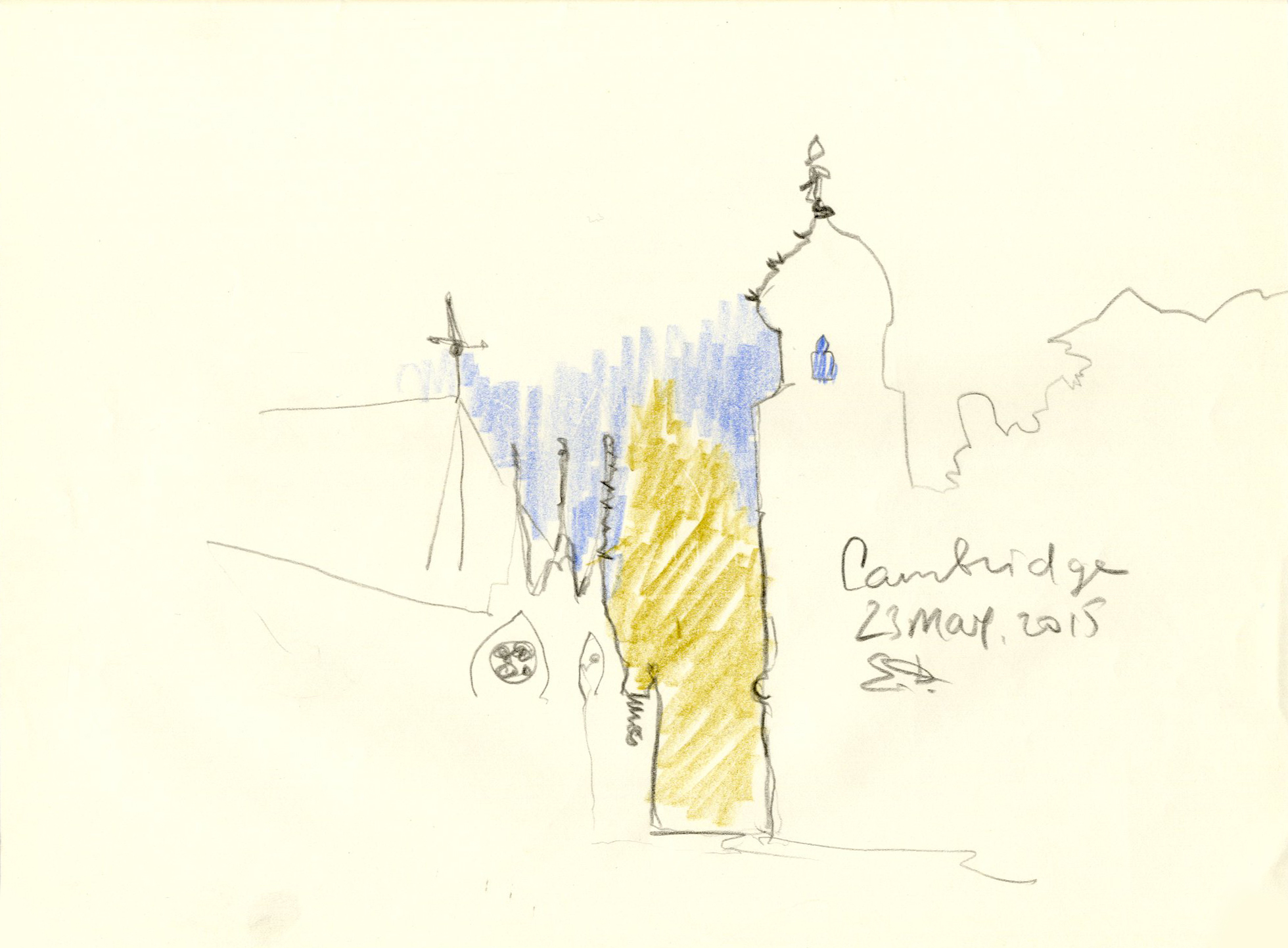 Cambridge. 3 min sketch