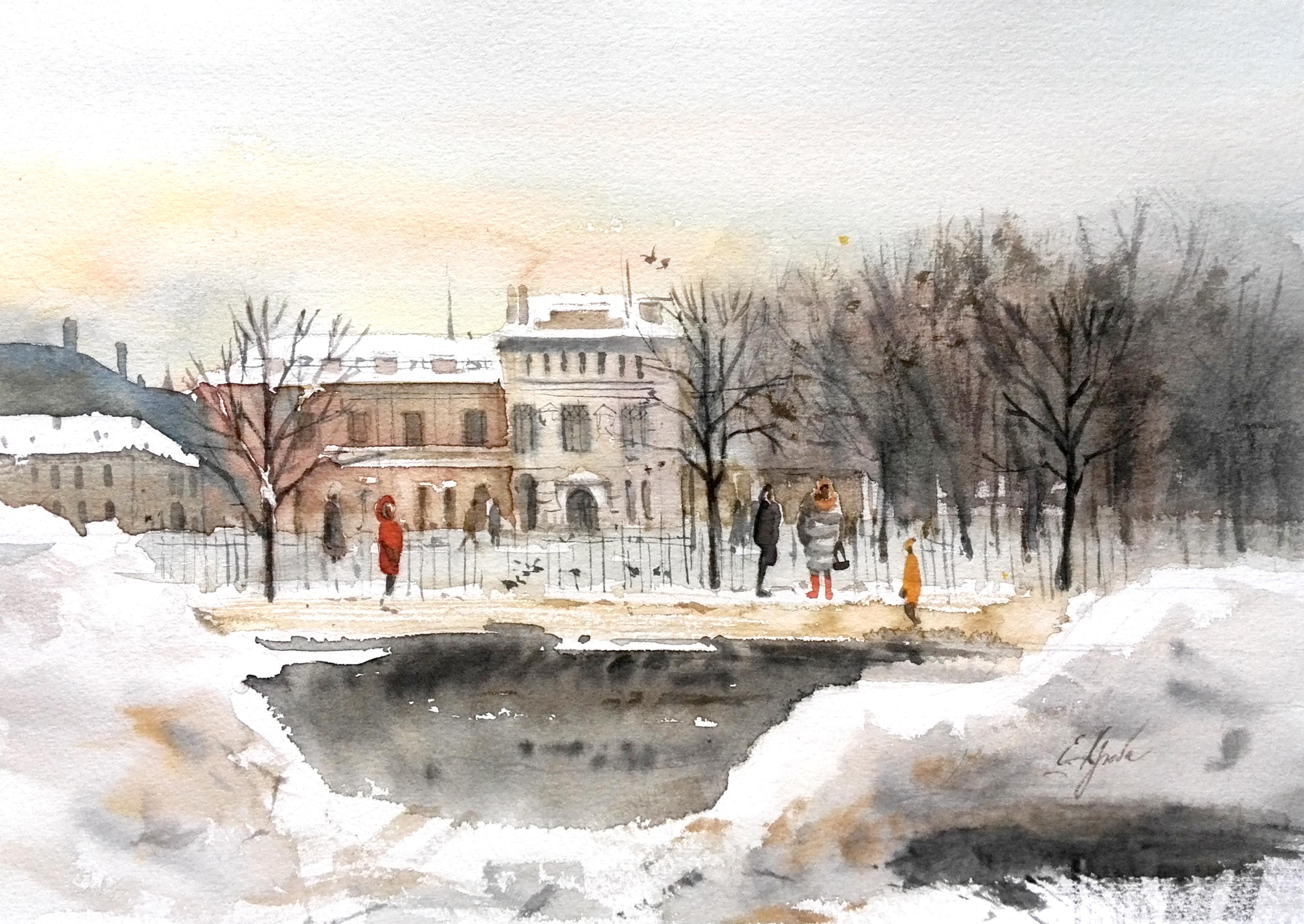 В Петербурге зима
