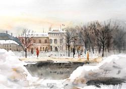 It's winter in St. Petersburg