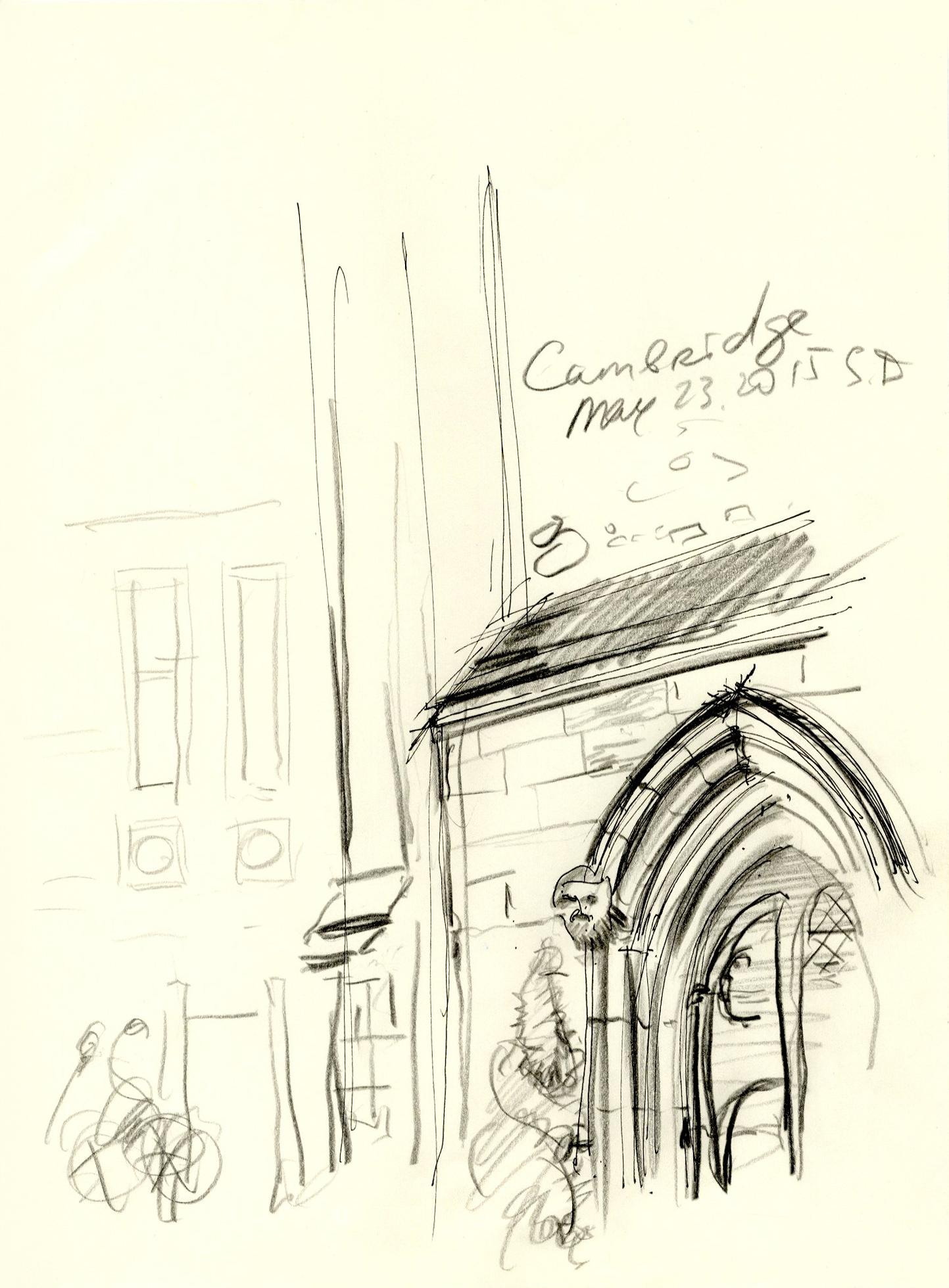 Cambridge. Gothic entrance