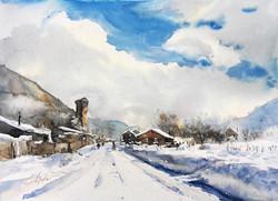 Snowbanks in Lengeri