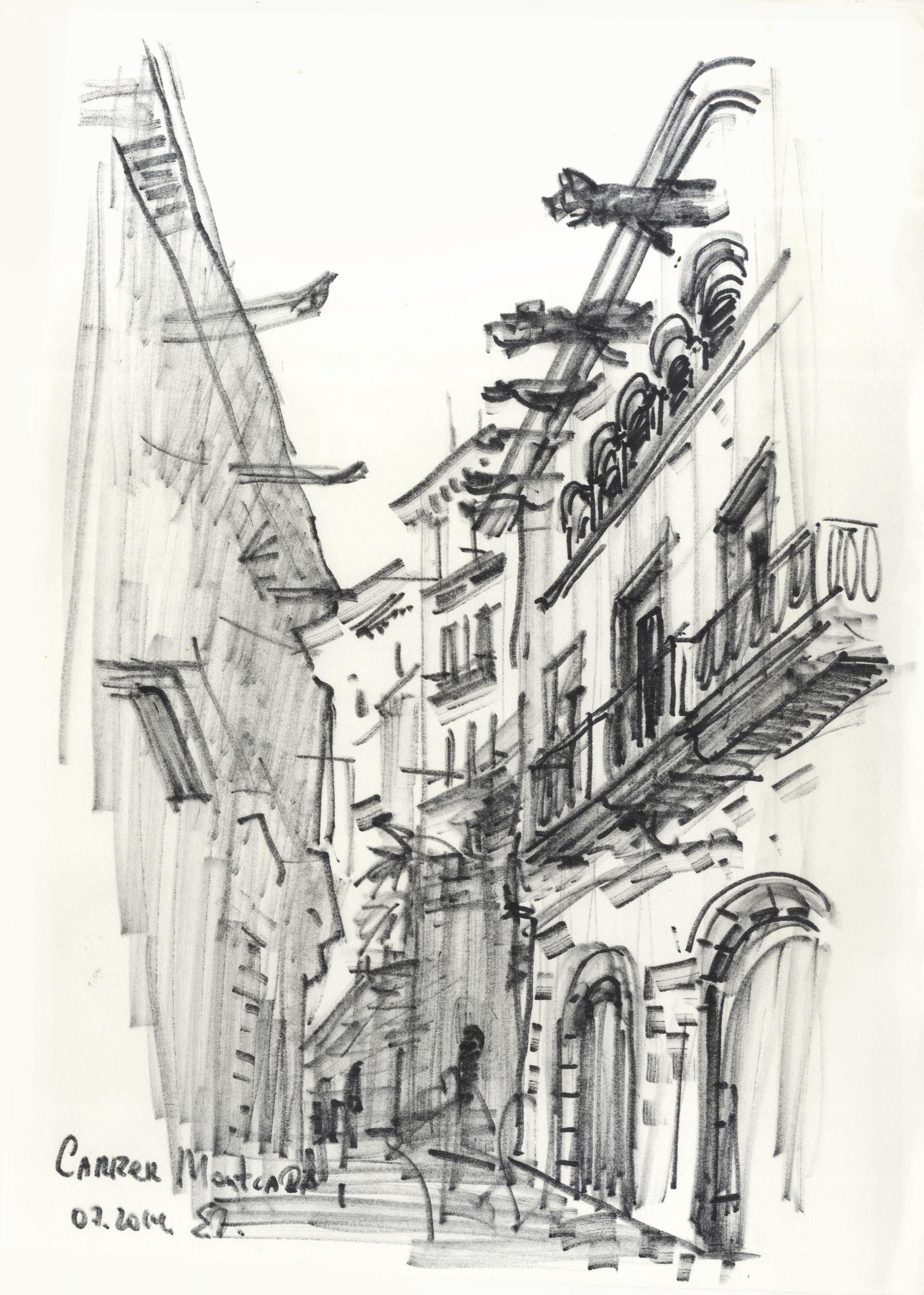 Gothic quarter. Carrer Montcada.