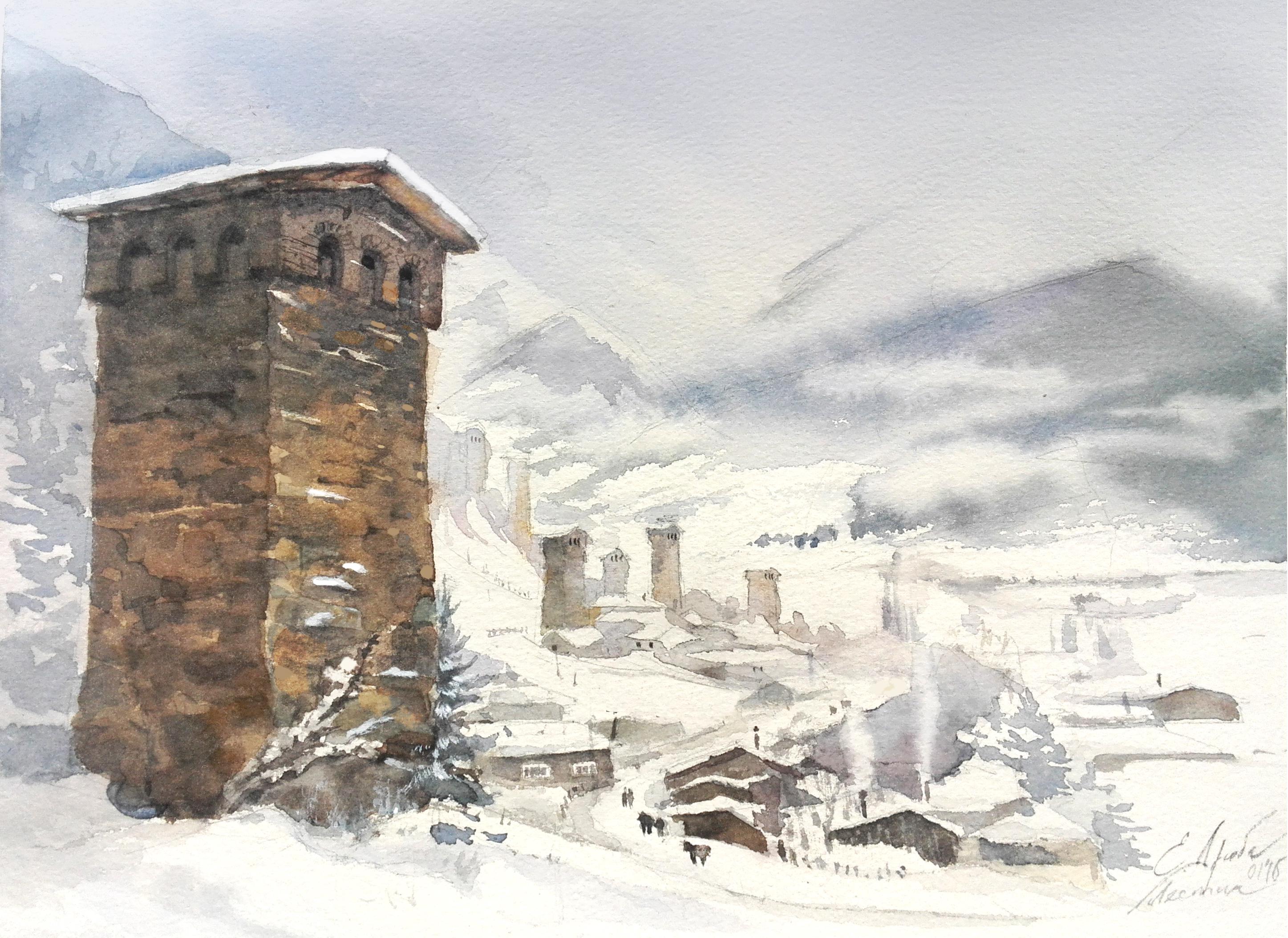 Сванские башни в Местии