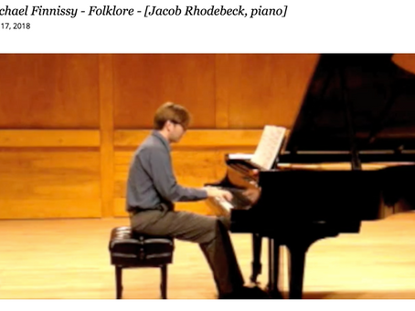 Michael Finnissy -  Folklore  - [Jacob Rhodebeck, piano]