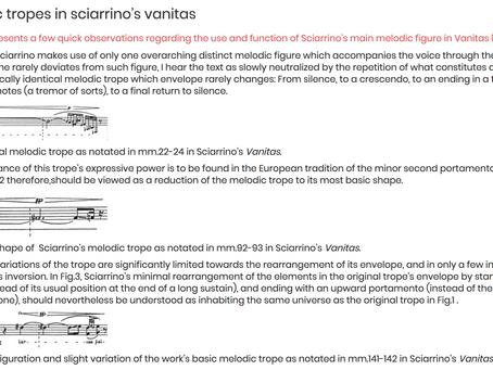 Salvatore Sciarrino - Melencolia I (1980) for cello and piano / Ultime Rose - Vanitas