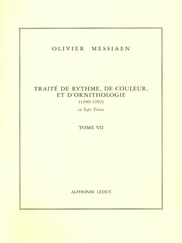 Messiaen Tratado de Rítmo Color y Ornitología