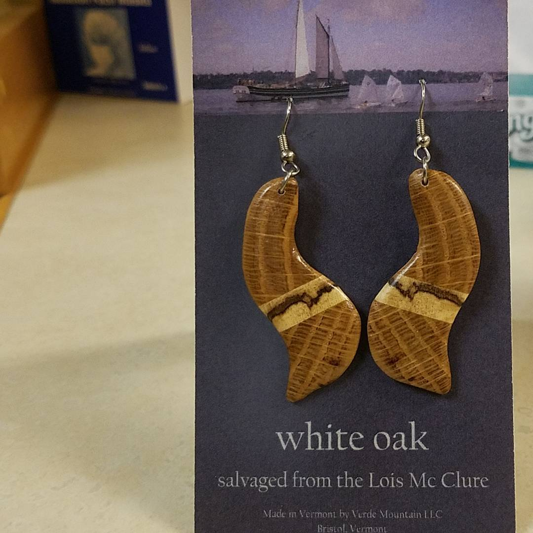 white oak earrings