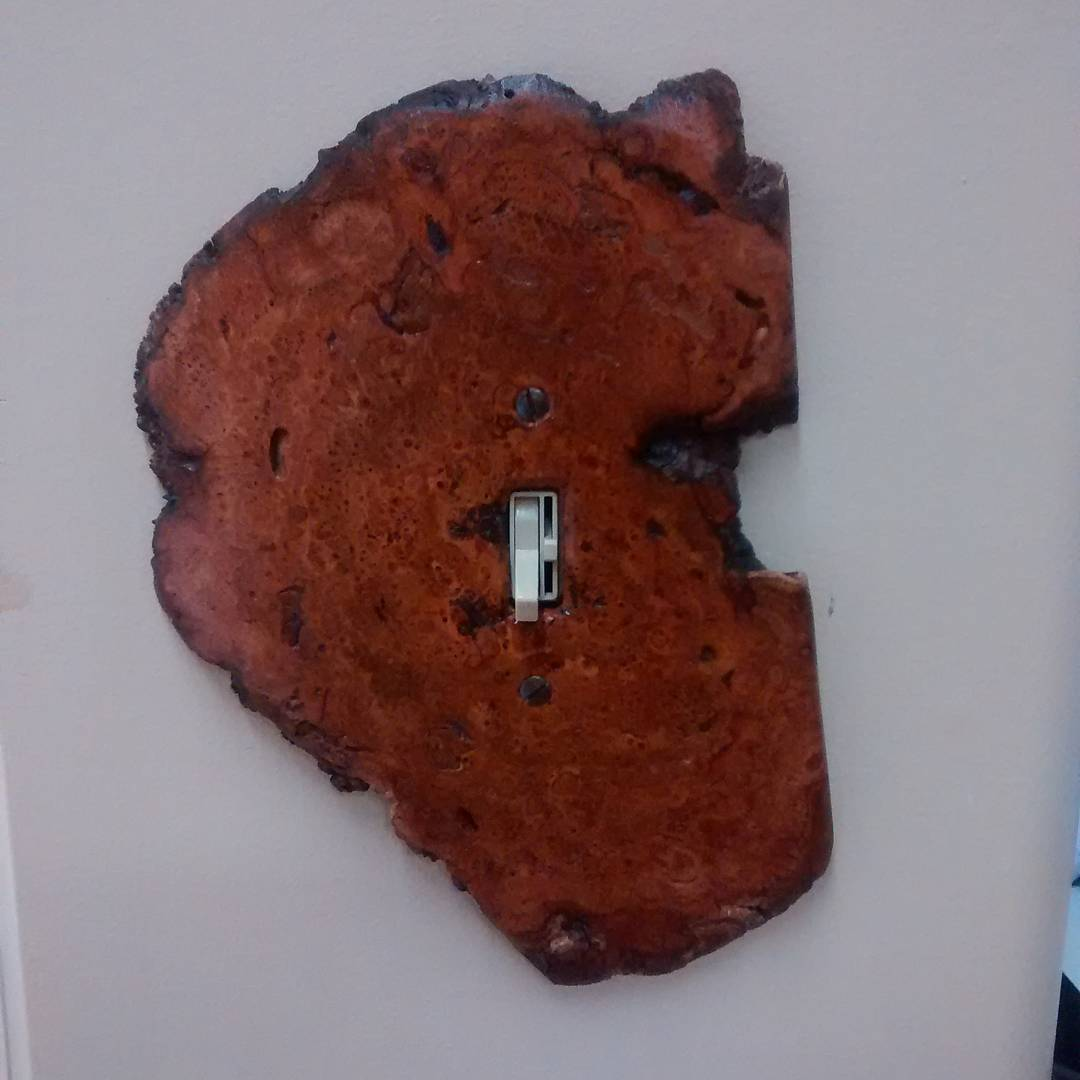 rustic cherry burl switch cover