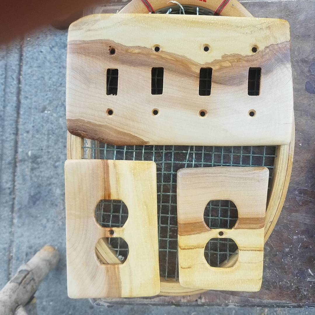 rock maple switch and outlet covers