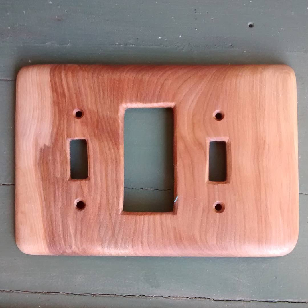 curly beech light switch cover