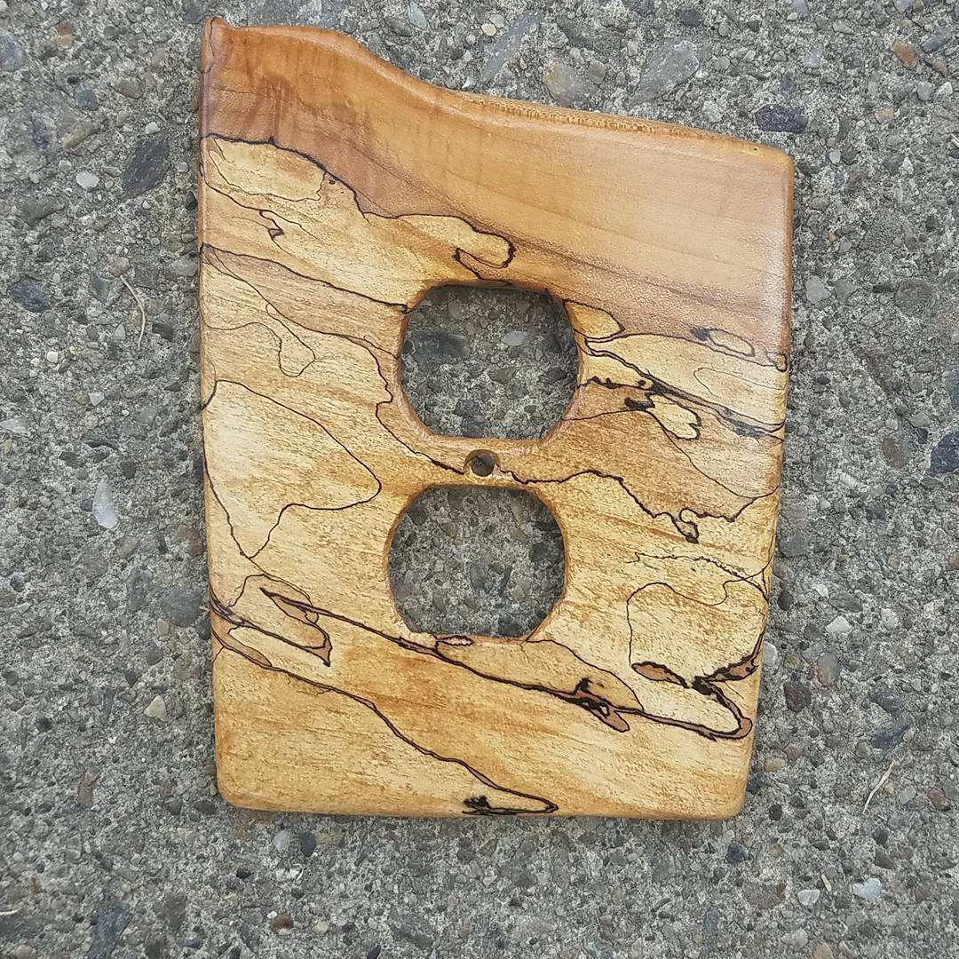 spalted maple outlet cover