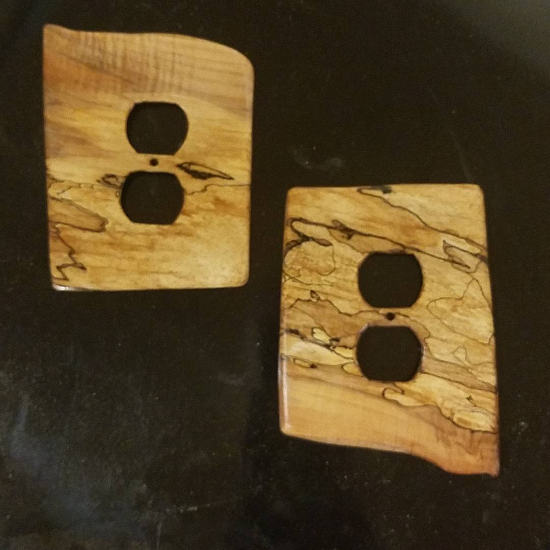 spalted maple outlet covers