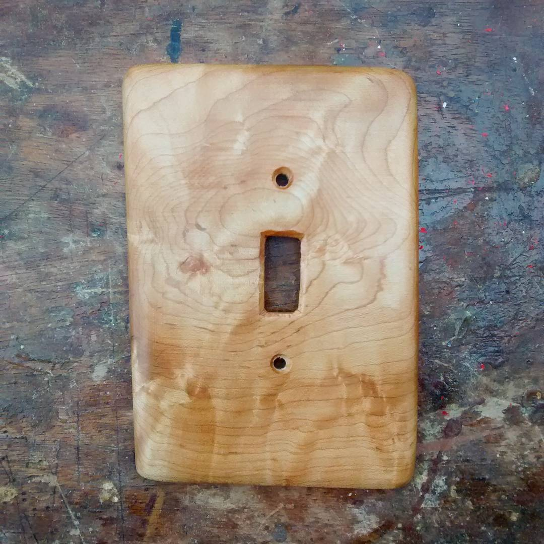 curly maple light switch cover