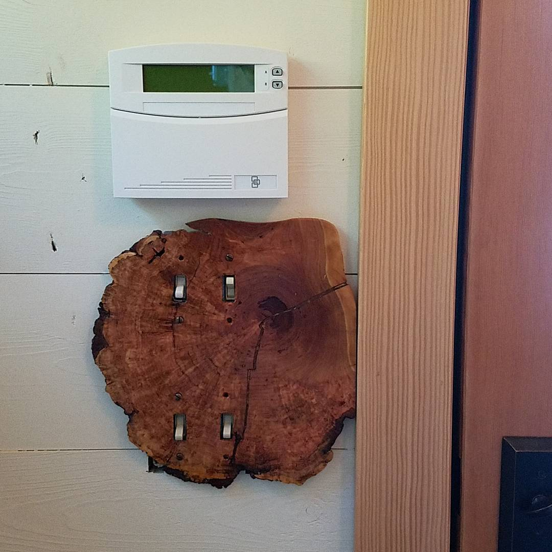 cherry burl light switch plate