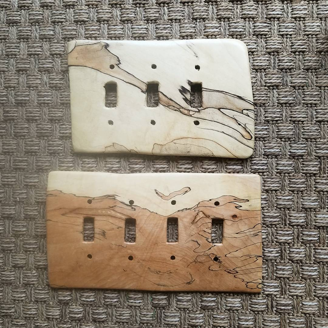 light switch covers in wood