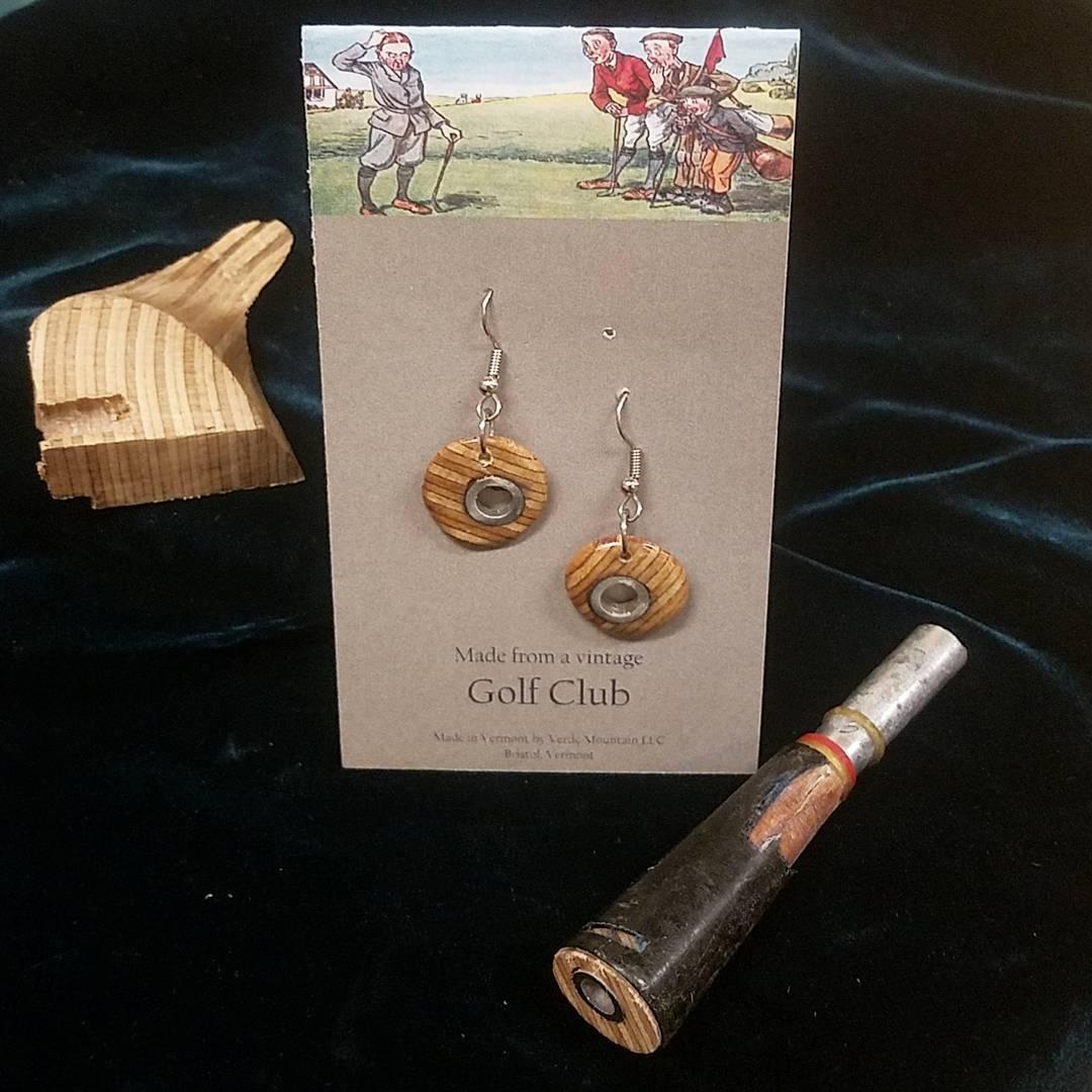 Golf Club Earrings