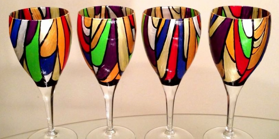 Friday Wine Glass Painting for Men & Women or Canvas