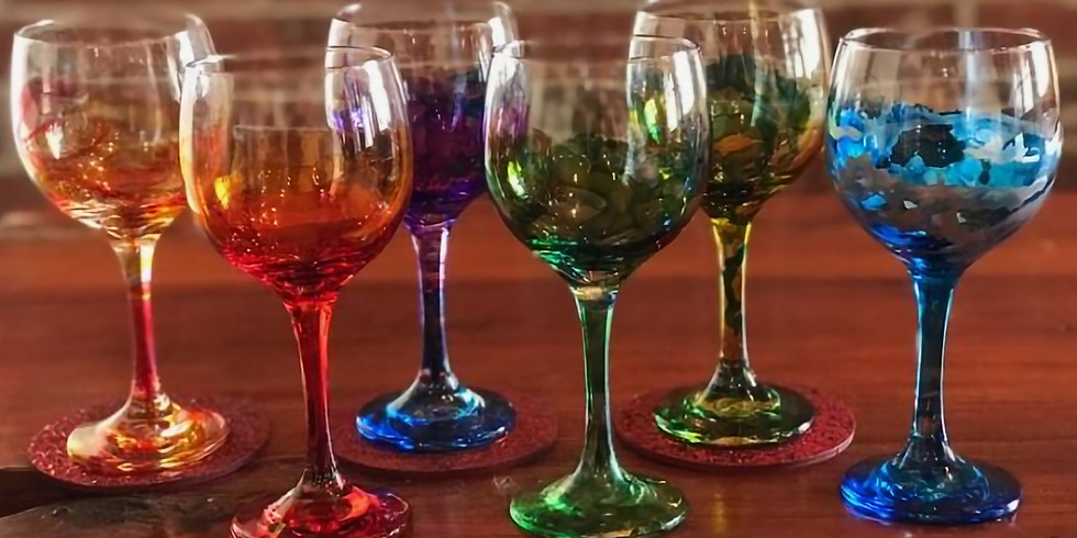 SATURDAY NIGHT LIVE PAINT PARTY - FLUID ART WINE GLASSES
