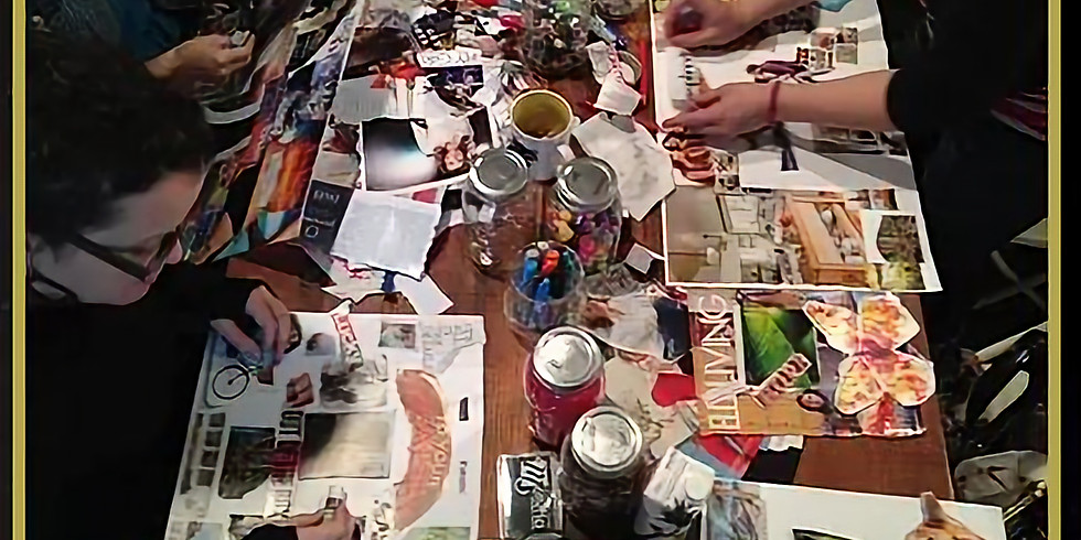 When PAINT MEETS VISION (Vision board party/workshop)