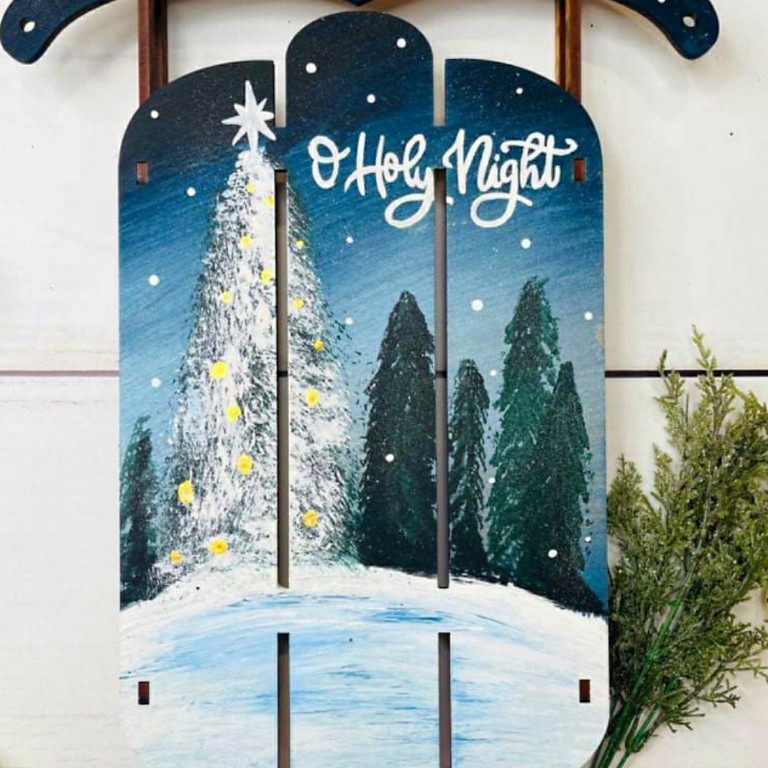 Sleigh Ride Vintage Santa