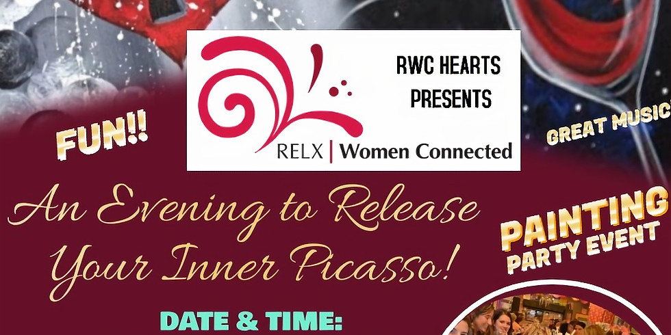 """RWC HEARTS PRESENTS """"ALLOW YOUR INNER PICASSO TO FLOW"""" ("""