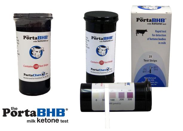 PortaBHB milk ketone test