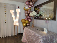 15th birthday decoration at event hall in miami