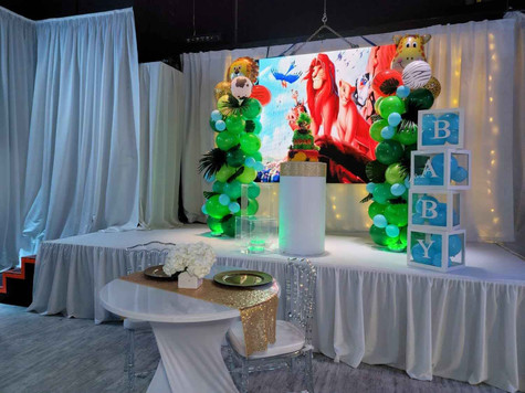 thematic party of the lion king at event venue