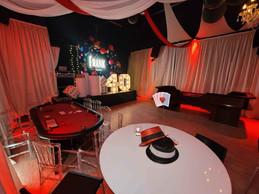 event venue in miami decorated with casino theme