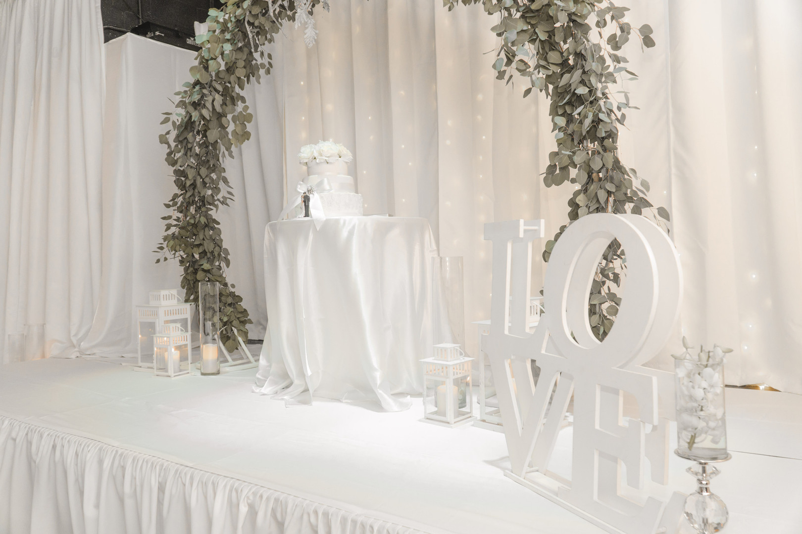 Wedding venue with a love sign in Kendall Miami