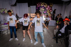 birthday girl doing choreography in party venue