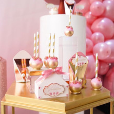 pink 15th birthday party favors
