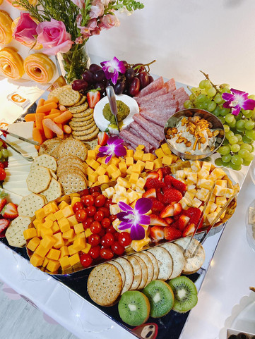 Grazing table in an event venue in Kendall Miami