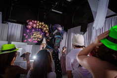 led robot show at event venue in miami