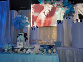 baby photo on screen at baby shower in miami