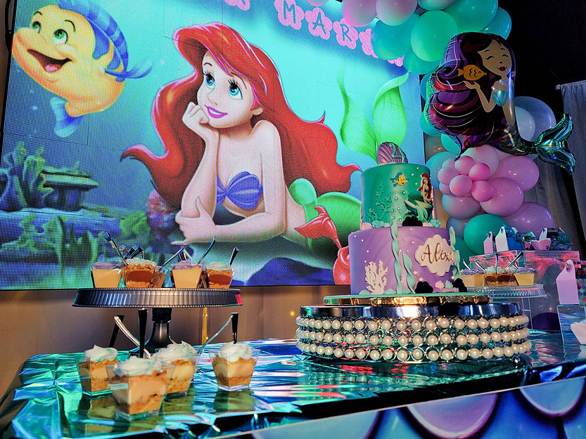 ariel themed decoration for kids party in miami