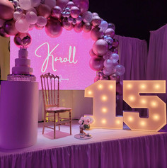 stage with number 15 at event venue in miami