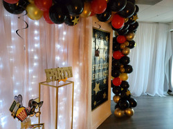 balloon decoration at 50th birthday party