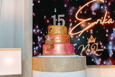15th decorated cake at a event venue
