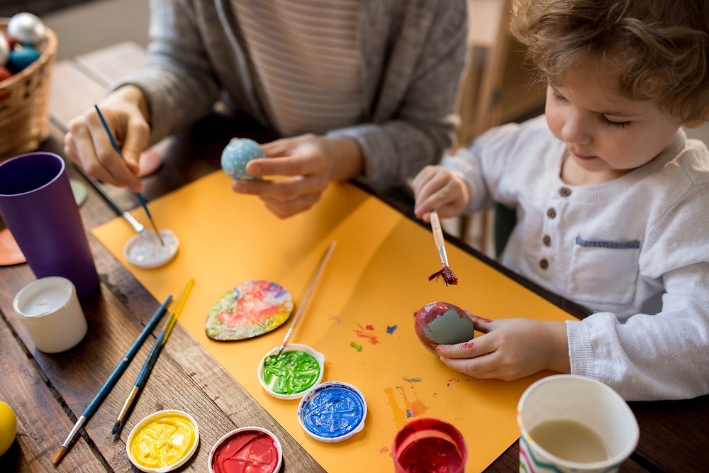 children-doing-crafts-at-home