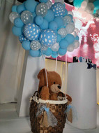 decoration with bear with balloon for baby shower