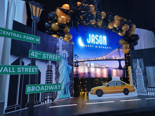 New York themed party at event venue