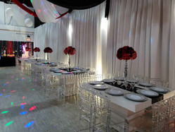 banquet hall decorated for 40th birthday