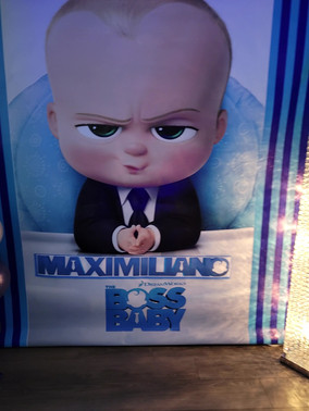 boss baby themed party at event venue