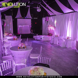 pink decorated event hall in miami