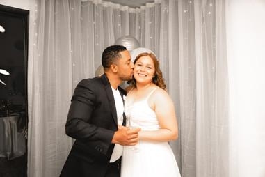 Bride and groom happy in a wedding venue in Kendall Miami