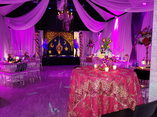 banquet hall in miami decorated with arabic theme