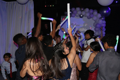 crazy hour at 15th birthday party